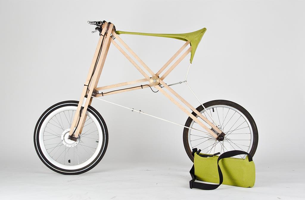 Kobleder hat ein elastisches Sitzgestrick für falbare Fahrräder entwickelt. Das Gestrick besteht aus hochfesten Materialien welchen den Strapazen standhalten.