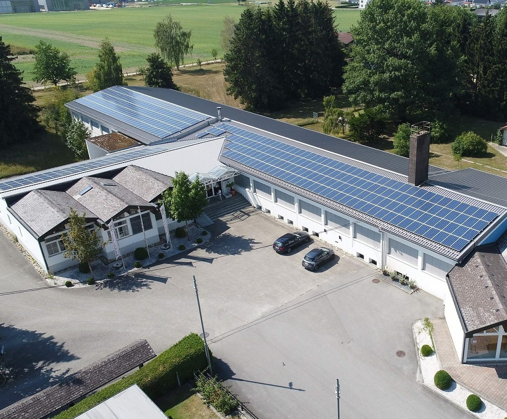 Solar energy provides green energy for our factory.